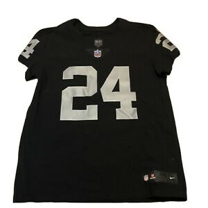 Nike Raiders Marshawn Lynch #24 Home Elite Jersey Size 44 Large 851612-015 NEW