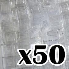 NEW LEGO - TILES - Trans Clear 1x1 - x50 -  1 x 1 Transparent Clear tile