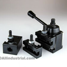 4 PC AXA WEDGE TOOL POST INTRO SET CNC TURNING,FACING, & BORING LATHE HOLDERS