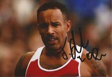 ATHLETICS: JAMES ELLINGTON SIGNED 6x4 ACTION PHOTO+COA *TEAM GB*