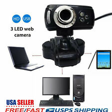 Full Hd Usb 50 Mp 3 Led Video Camera Webcam w/ Microphone for Pc Laptop Skype Us