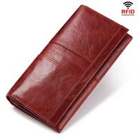 Women Wallet RFID Block Lady Clutch Leather Long Card Holder Case Purse Handbag