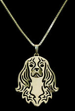 Cavalier King Charles Spaniel Dog Necklace -  Fashion Jewellery - Gold Plated