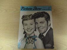 March 1952, PICTURE SHOW, Mitzi Gaynor, Kirk Douglas, Katherine Hepburn.