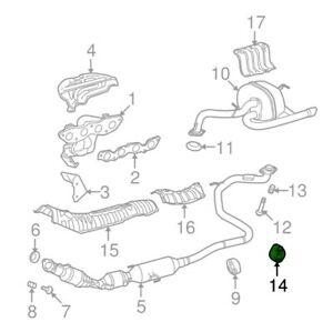 For Toyota Genuine Exhaust System Hanger Rear 1756547010