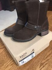 Taos Brown Leather Suede Craft Boot Size 8(38) NIB