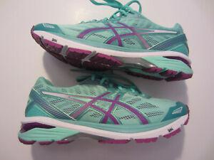 NEW Asics GT-1000 5 women's running walking shoe sneaker T6A8N 6736 green 40 8.5