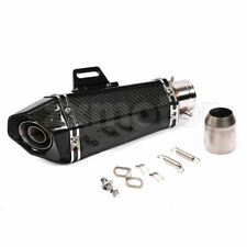"Real Full Carbon Fiber Motorcycle Exhaust Kit 1.5""-2"" Performance Muffler 13.7"""