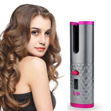 Cordless Auto Rotating Ceramic Hair Curlers USB Rechargeable Curling Iron Styler