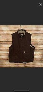 carhartt vest brown NWOT