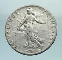 1913 FRANCE La Semeuse Woman Genuine Silver 50 Centimes French Coin i79662