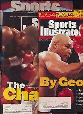 Lot 3 Vintage SPORTS ILLUSTRATED Boxing George Foreman Mike Tyson Riddick Bowe