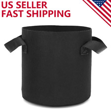 HOOPLE 6-Pack 5 Gallon Grow Vegetable/Flower/Plant Bags Garden With Handle- BLK