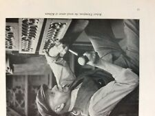 F1d Ephemera 1950s picture robert thompson wood carver kilburn