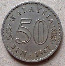 Malaysia 50 sen 1967 coin