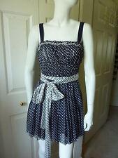 Dolce & Gabbana Spaghetti Strap Silk Dress with belt Size:42/6 NWT