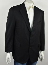 BROOKS BROTHERS Black Striped Wool GOLDEN FLEECE Hand Tailored Suit Jacket 44R