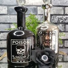 SKULL POISON XXX Apothecary Bottle Stopper Mad Scientist Halloween Prop CHOICE