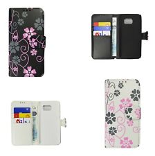For Samsung Galaxy S6 - 2 in 1 Floral Flower PU Leather Wallet Case Cover