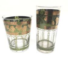 Cera Glass Mcm Green Gold Grapes Tumbler Highball Double Old Fashioned Mai Tai
