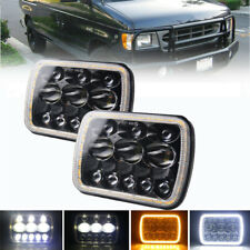 5x7'' 7x6'' LED Headlight Hi-Lo Combo Beam Halo DRL For Jeep CherokeeChevrolet