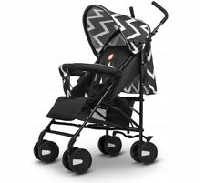 BABY STROLLER PUSHCHAIR WITH RAIN COVER &MOSQUITO NET ELIA LIONELO BLACK & WHITE