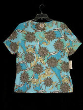 NEW JM Collection 1X Jersey Knit Top Belt Medallion Print NEW -Cat Rescue Fund