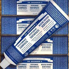 2er PACK Dr. Bronner's Zahnpasta Pfefferminze 140g fluoridfrei Fair Bio Vegan