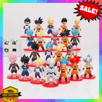 21pcs Set Dragon Ball Z Super Saiyan Goku Vegeta Gohan Omega Shenron Figures Lot