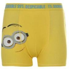 Abbigliamento giallo boxer per bambini dai 2 ai 16 anni