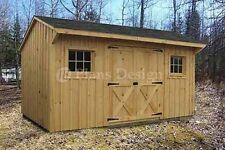 8' x 14' Utility Garden Saltbox Roof Style Shed Plans #70814