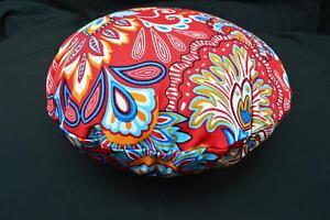 Flat Round Shape Cover*A-Grade Cotton Canvas Floor Seat Chair Cushion Case*Lf2