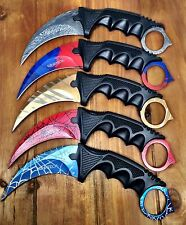 (5) TACT CS GO KARAMBIT KNIFE SURVIVAL HUNTING BOWIE FIXED BLADE DOPPL L PHASE 2