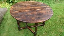 Lovely Antique Oak Oval Table c.300 years old Gate-Legged Beautiful Patina