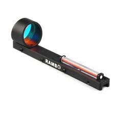 Red Fiber Red Dot Sight Scope Holographic Sight Fit Shotgun Rib Rail Hunting
