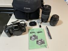 Canon EOS Rebel XS 35mm Film Camera + Extras! Whole Kit