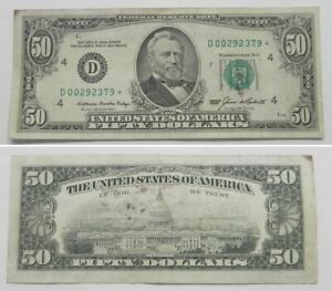 1985  $50 Federal Reserve STAR NOTE Cleveland, XF, D00292379*