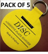 PACK OF 5 (10CM)Plate Picture Hanger Disc Self Adhesive Stick on Invisible Hook