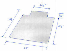 """New PVC Chair Mat 45"""" x 53"""" with Lip for Carpet 2.5mm thick"""