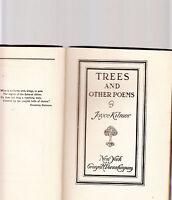 TREES & OTHER POEMS-JOYCE KILMER-1914 HB SCARCE ORIG 1ST ED ANTIQUARIAN CLASSIC