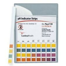 IND Cardinal Health™ pH Indicator Strip, 0 to 14 Long Ranges, Four Test Field