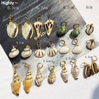 Fashion Women Natural Pearl Shell Conch Statement Dangle Drop Earrings Jewelry