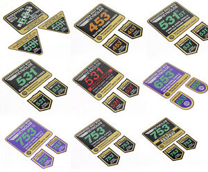 REYNOLDS Tubing 531 753 653 453 531st 501 Decals Sticker Aufkleber 3-teilig