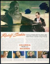 1945 Rudolf Serkin photo Columbia Records vintage print ad