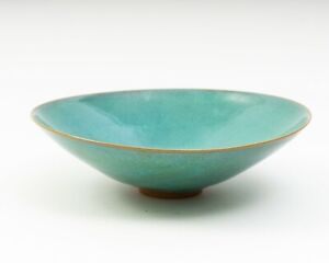 "Original Signed Modernist Pottery Bowl by Edwin & Mary Scheier 7.75"" W x 2.25"" T"