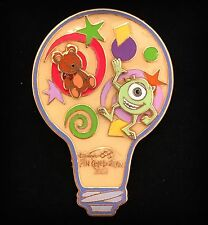 LE Mike Ted Monsters Inc Disney Build A Pin Celebration Bulb Imagination Figment