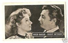 Greer Garson Robert Mitchum 1950 Kwatta Movie Star Card  Look!