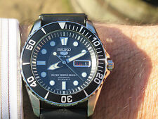 SEIKO SEA URCHIN DIVERS AUTOMATIC 23J MARCH 2015 SHARK MESH DIVERS CHUNKY MINT