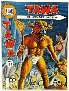 TAWA El Hombre Gacela EDAR No. 197 Silver Age 1966 Spanish Language Comic Book
