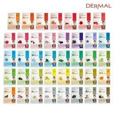 Dermal Korea Collagen Essence Full Face Facial Mask Sheet 32 Options- Pack Of 14